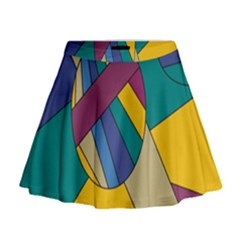 Unknown Abstract Modern Art By Eml180516 Mini Flare Skirt