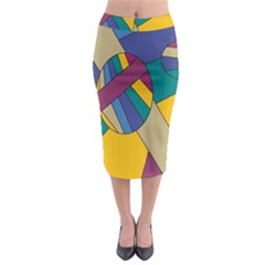Unknown Abstract Modern Art By Eml180516 Midi Pencil Skirt