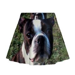 Boston Terrier Mini Flare Skirt