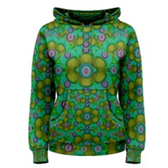 Peace Flowers In A Scandinavia Mix Of Acrylpaint Women s Pullover Hoodie