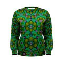 Peace Flowers In A Scandinavia Mix Of Acrylpaint Women s Sweatshirt