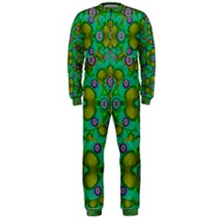 Peace Flowers In A Scandinavia Mix Of Acrylpaint Onepiece Jumpsuit (men)