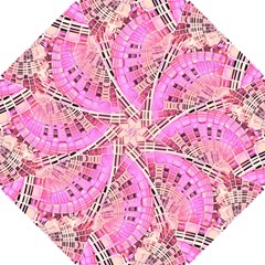 Pretty Pink Circles Curves Pattern Hook Handle Umbrella (Small)