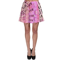 Pretty Pink Circles Curves Pattern Skater Skirt