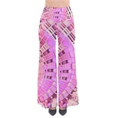 Semi circles abstract modern art pink Pants