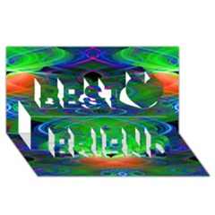 Neon Night Dance Party Best Friends 3D Greeting Card (8x4)