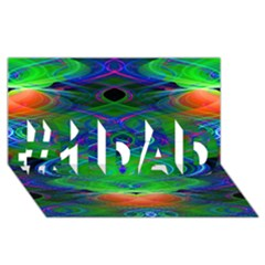 Neon Night Dance Party #1 DAD 3D Greeting Card (8x4)