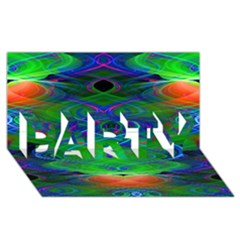 Neon Night Dance Party PARTY 3D Greeting Card (8x4)