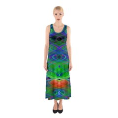 Neon Night Dance Party Sleeveless Maxi Dress