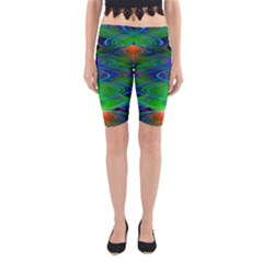 Neon Night Dance Party Yoga Cropped Leggings