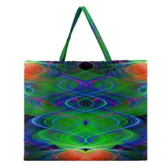 Neon Night Dance Party Zipper Large Tote Bag