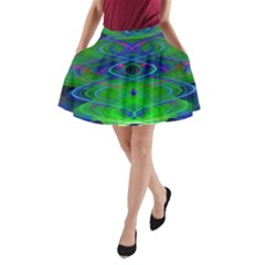 Neon Night Dance Party A Line Pocket Skirt