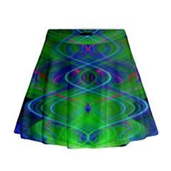 Neon Night Dance Party Mini Flare Skirt