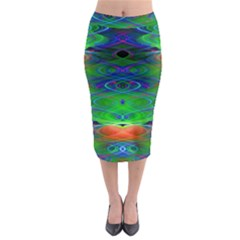 Neon Night Dance Party Midi Pencil Skirt