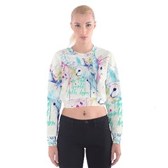 Labyrinth Barn Owl Women s Cropped Sweatshirt