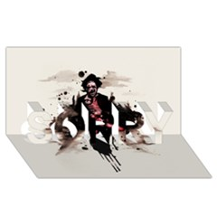 Leatherface 1974 SORRY 3D Greeting Card (8x4)