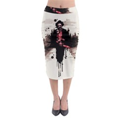 Leatherface 1974 Midi Pencil Skirt