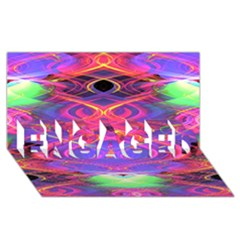 Neon Night Dance Party Pink Purple Engaged 3d Greeting Card (8x4)