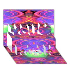 Neon Night Dance Party Pink Purple You Rock 3D Greeting Card (7x5)