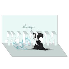 Always... #1 MOM 3D Greeting Cards (8x4)