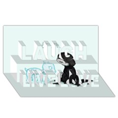Always... Laugh Live Love 3D Greeting Card (8x4)
