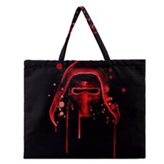Bad Grandson Zipper Large Tote Bag