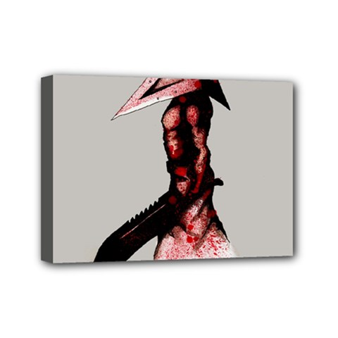 Pyramid Head Drippy Mini Canvas 7  x 5