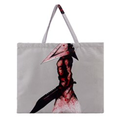 Pyramid Head Drippy Zipper Large Tote Bag