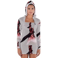 Pyramid Head Drippy Women s Long Sleeve Hooded T-shirt