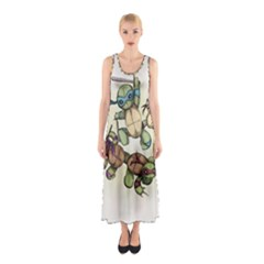 Teenage Mutant Ninja Plushies  Sleeveless Maxi Dress