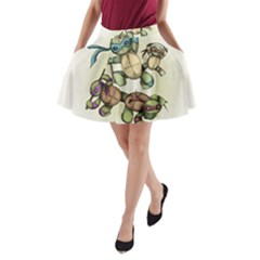 Teenage Mutant Ninja Plushies  A-Line Pocket Skirt