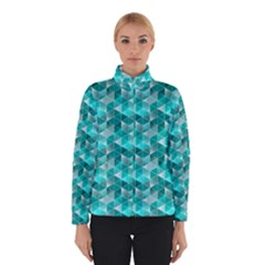 Aquamarine Geometric Triangles Pattern Winterwear