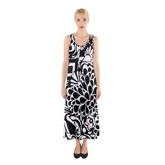 Coloring70swallpaper Sleeveless Maxi Dress