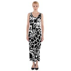 Coloring70swallpaper Fitted Maxi Dress