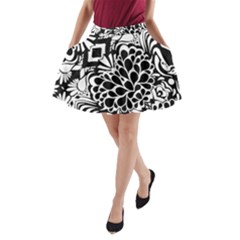 Coloring70swallpaper A-Line Pocket Skirt