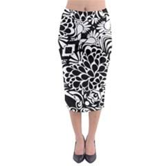 Coloring70swallpaper Midi Pencil Skirt