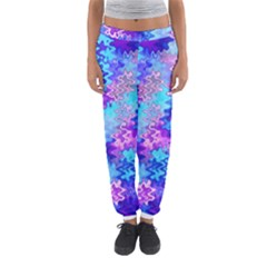 Blue and Purple Marble Waves Women s Jogger Sweatpants
