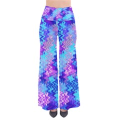 Blue And Purple Marble Waves Pants