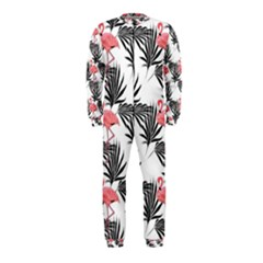 Flamingos Palmetto Fronds Tropical Pattern OnePiece Jumpsuit (Kids)