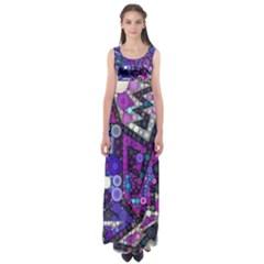 Hipster Bubbles Empire Waist Maxi Dress