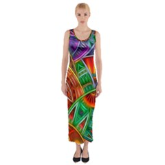 Happy Tribe Fitted Maxi Dress