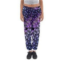 Dusk Blue and Purple Fractal Women s Jogger Sweatpants