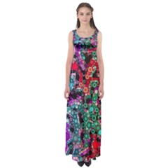 Bubble Chaos Empire Waist Maxi Dress