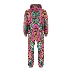 Petals, Carnival, Bold Flower Design Hooded Jumpsuit (Kids)