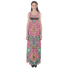Petals, Carnival, Bold Flower Design Empire Waist Maxi Dress