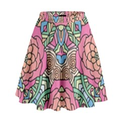 Petals, Carnival, Bold Flower Design High Waist Skirt