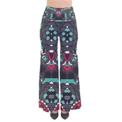 Petals, Dark & Pink, Bold Flower Design Pants