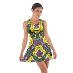 Petals, Mardi Gras, Bold Floral Design Racerback Dresses