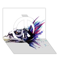 Skeksis Peace Sign 3D Greeting Card (7x5)