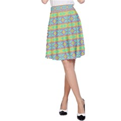 Abstract Rainbow Butterfly Vivid Colorful Cute A-Line Skirt